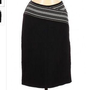 Herve Leger Black White Striped Bandage Skirt M
